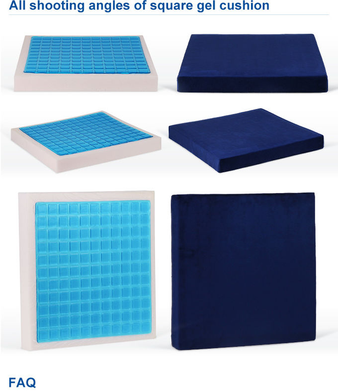 Comfort orthopedic gel cushion / Cool Gel Seat Cushion for Lower Back Pain Relief